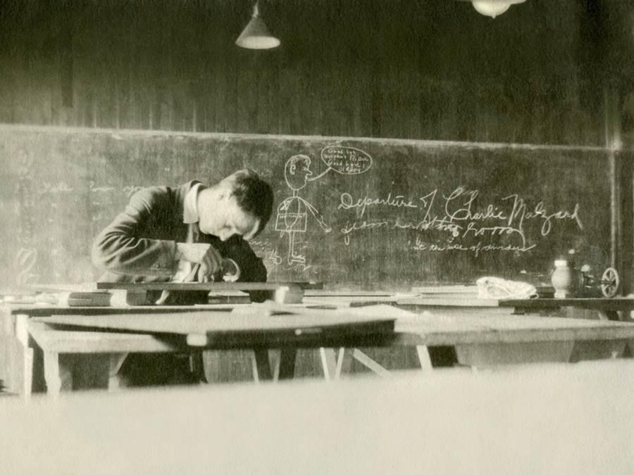 B4 - StFX Drafting student, 1910