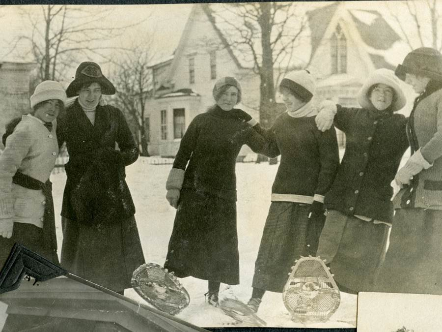 B5 - Women on snowshoes, c 1910