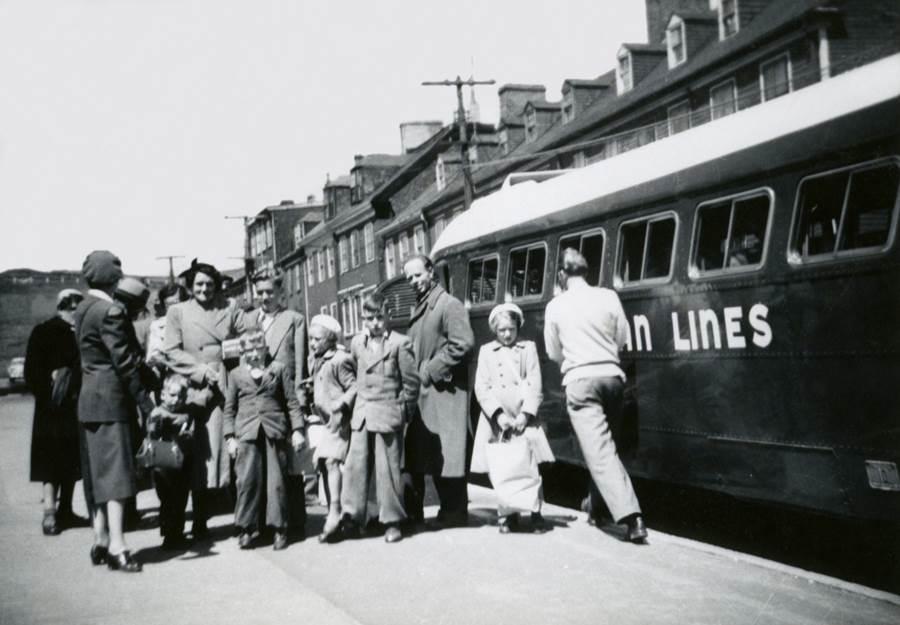 B6 - The Van  de Sande family arrives in Halifax, catches the bus to Antigonish, 1956