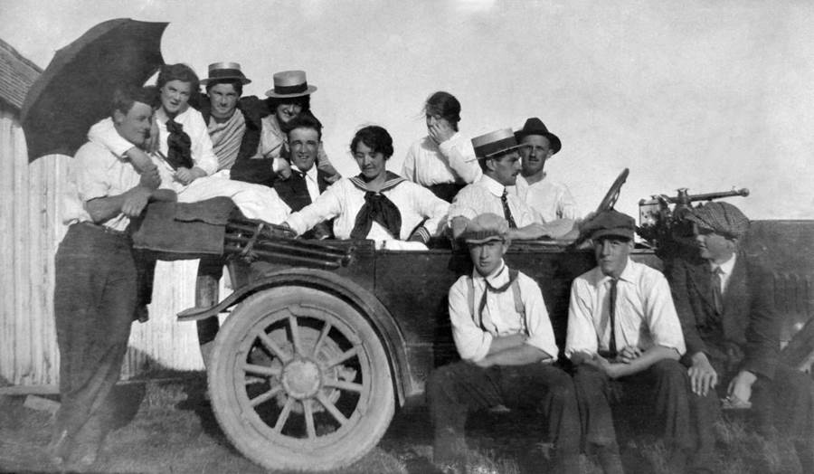 B8 - At the wheel, c 1920