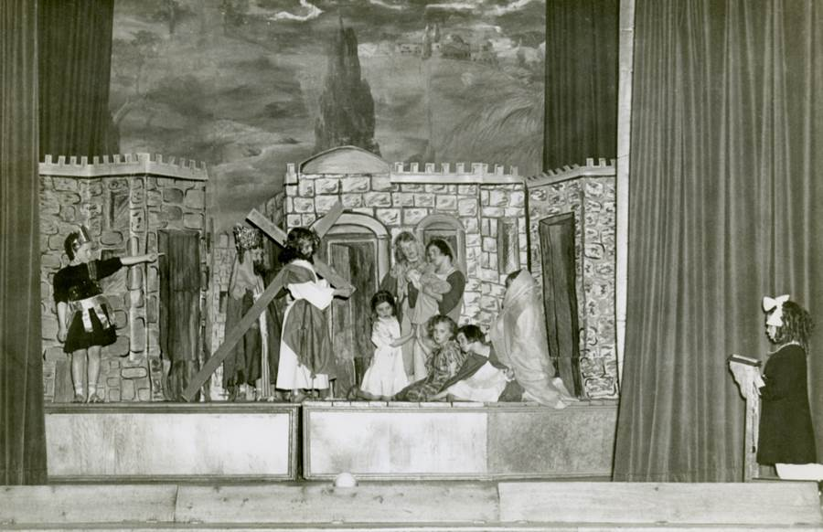 B9 - The Way of the Cross, Immaculata Auditorium, Morrison School play, 1951