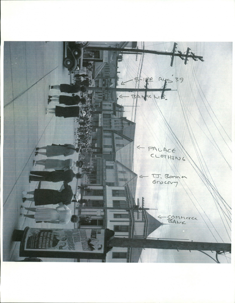 Sheila Jewkes main street 1940 note given by Stephen_Page_2