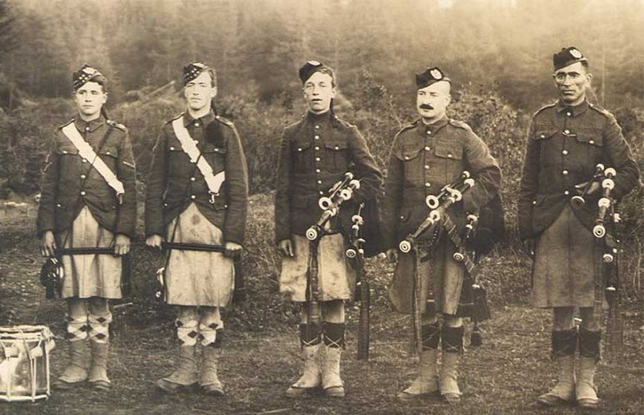 Pipers Vanvouver WWI