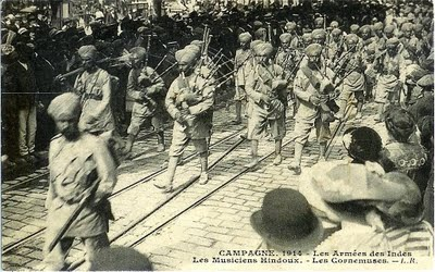 Sikh Pipers WWI