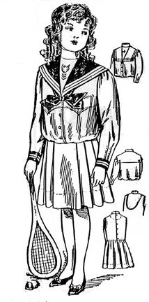 Girl's Sailor Suit c 1908