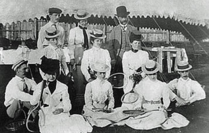 tennis players polo grounds Quinpool rd 1895 from Robert Cedric Brown