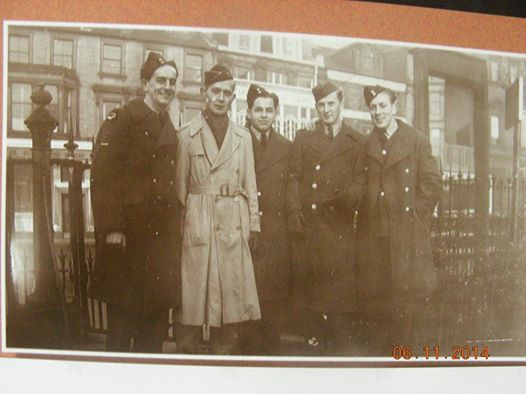 Judith MacLeans father centre Alex MacLean Georgeville RCAF UK WWII