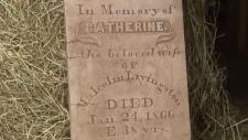 headstone Catherine 1866 St. Andrews