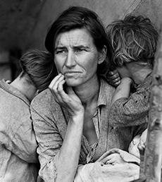 Dorothea Lange iconic photo Depression 1936