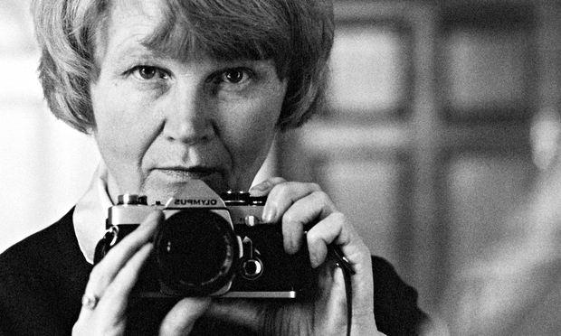 Jane Bown, taken in mirror, c 1986