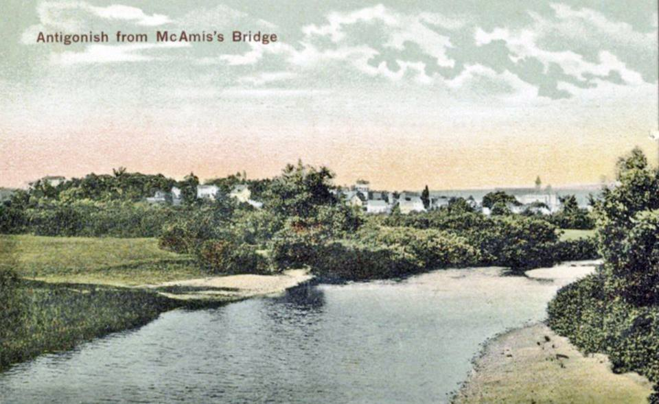 Antigonish from McAmis's Bridge 1930s Fraser COlelction