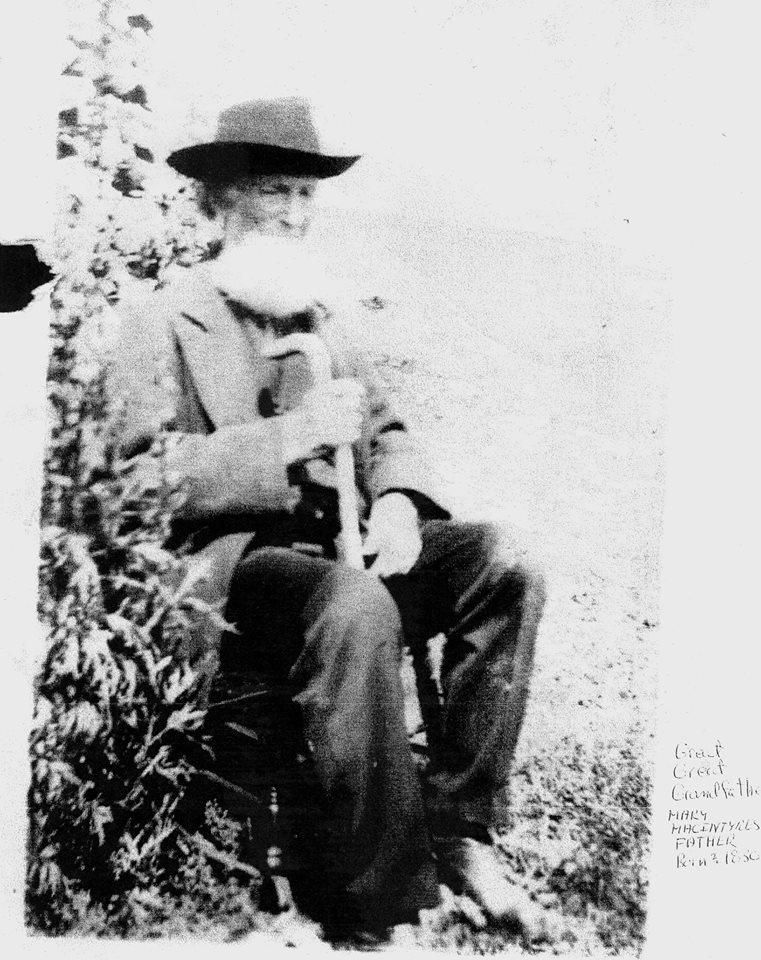 John MacIntyre 1826 to 1916 Credit g g g g grandson Daniel Matta