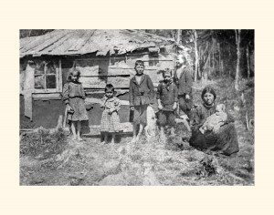 Mi'kmaq Marshall Family on Brown's Mountain, 1909